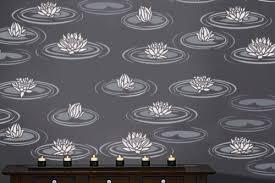 Decorative Wall Stencils Water Lilies Reusable Wall Stencils Easy Diy Home Decor Wall