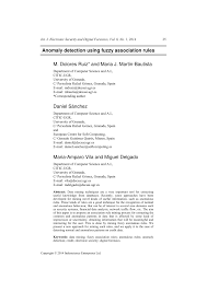 anomaly detection using fuzzy association rules pdf download