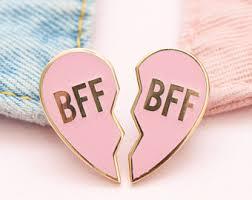 friendship heart friendship pin etsy
