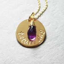 necklace with baby name personalized gold necklace baby name and birthstone push