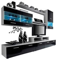 modern entertainment center wall unit with led 50 inch tv stand