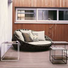 Cheap Modern Patio Furniture by Outdoor Fresh Patio Design Idea With Wicker Sofa Also Metal Side