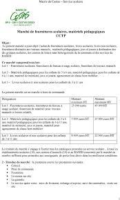 catalogue fourniture de bureau pdf marché de fournitures scolaires matériels pédagogiques cctp pdf