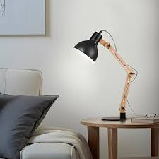 Desk Light Design Amazon Com Tomons Dl1001b Wood Swing Arm Desk Designer Table Lamp
