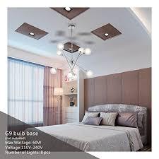 mid century ceiling light sputnik chandelier lighting vinluz 8 light modern pendant lighting