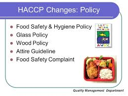 hygiene cuisine aeon co m bhd haccp implementation ccp ppt