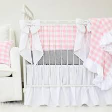 Pink And Gray Crib Bedding Maggie S Pink Gray Crib Bedding Caden