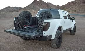 Ford Raptor Truck Parts - rogue racing raptor f150 two tire carrier w bed braces
