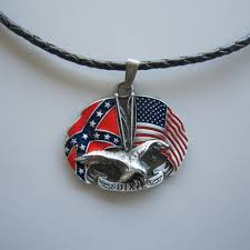 charm leather necklace images New vintage eagle with flag cross star metal charm pendant leather jpg