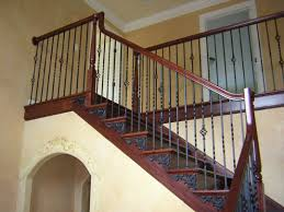 Exterior Stair Handrail Kits Wood Stairs With Iron Baers Iron Baers Installation Outdoor Metal