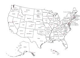 Map Of Albany New York by Us States And Capitals Map 50 States And Capitals Of Usa Clipart
