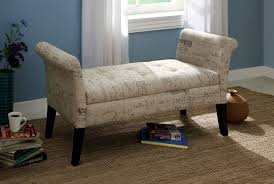 Storage Bench Fabric Furniture Astounding White Tufted Bench Storage With Armrest And