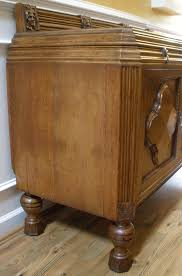 Solid Oak Buffet by Antique English Solid Oak Carved Sideboard Server Buffet For