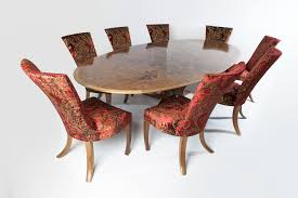 burr walnut dining table and chair set fine furniture maker