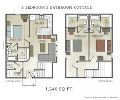 cottage floor plans incredible 3 bedroom cottage floor plans with for cottages