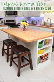 installing kitchen island installing butcher block on a kitchen island sew woodsy