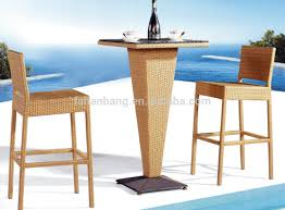 new design hotsale modern synthetic plastic rattan bar stool high