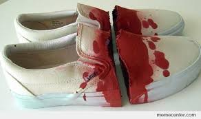 bloody shoes by ben meme center