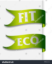 ribbon with words pair ribbon words fit eco stock vector 56945401