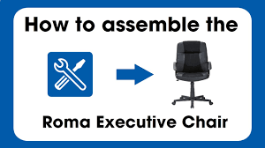 roma high back executive chair assembly instructions youtube