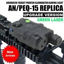 laser and light combo an peq 15 green laser white led flashlight torch ir illuminator