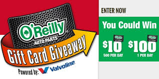 instant win gift cards o reilly automotive gift card giveaway and iwg sweepstakesbible