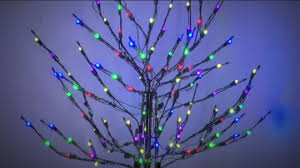 santa u0027s best 4 u0027 all season prelit brown wire tree with rgb