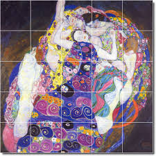gustave klimt abstract backsplash tile mural loading zoom