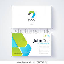 green blue graphic business card template stock vector 571886035