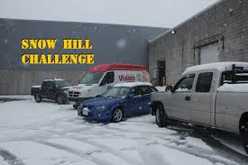nissan altima coupe in snow 2wd vs 4wd polished snow icy incline challenge all season vs