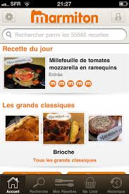 applications cuisine home screen application marmiton applications cuisine listes de