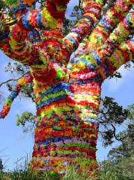 686 best yarn bombed trees poles images on yarn