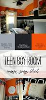 Cool Hockey Bedroom Ideas Teen Boy Bedroom In Orange Gray Black Orange Grey Teen Boys