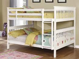 White Full Over Full Bunk Bed - Full over full bunk bed