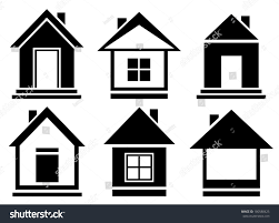 House Silhouette by Set Isolated Home Silhouette Vector Collection Stock Vector