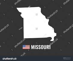 Missouri On Map Missouri Map Isolated On Black Background Stock Vector 682969738