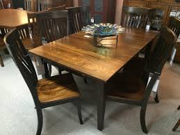 gorgeous elm amish made dining room set in miller u0027s furniture