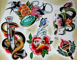 109 best traditional flash tattoos images on pinterest sketches