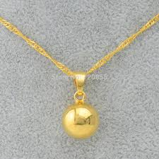 gold bead pendant necklace images Anniyo gold color ball pendants necklaces for women round bead jpg