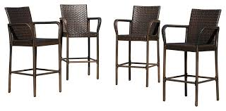 Bar Stool Patio Furniture Stewart Outdoor Bar Stools Set Of 4 Contemporary Outdoor Bar