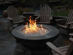 gas fire pit with glass embers napoleon linear patio flame natural