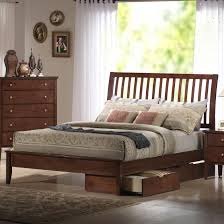 Beds With Headboard Storage Holland House Central Park Queen Slatted Sleigh Headboard Bed