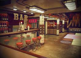 Steam Punk Interior Design My Design Of The Cinema Bar 3ds Max Photoshop Steampunk