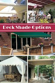 Hammock With Stand And Canopy How To Shade Your Deck Or Patio Deck Cooler Canopy And Decking