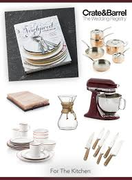 creative wedding registries 2017 wedding registry must haves from crate and barrel crates