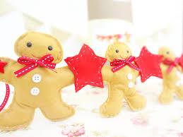 gingerbread man garland kit christmas garland felt garland