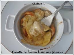cuisiner du boudin blanc mini cocottes de boudin blanc aux pommes ghislaine cuisine