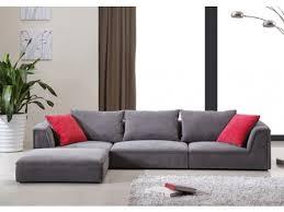 canap vente unique canapé modulable en tissu gris et 2 coussins déco houston