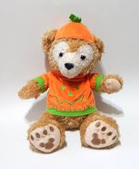 disney parks hidden mickey duffy teddy bear halloween pumpkin
