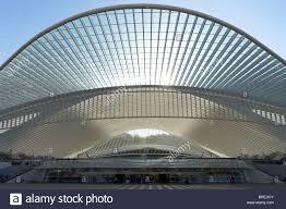Futuristic Design by Liège Guillemins Train Station Modern Futuristic Design Roof Stock